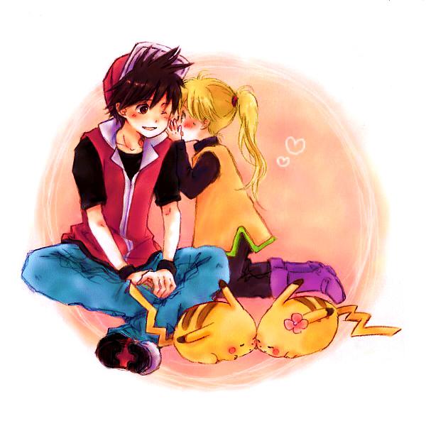 Tags: Anime, Pixiv Id 271621, Pokémon SPECIAL, Pokémon, Red (Pokémon SPECIAL), Red (Pokémon), Pika (Pokémon), Yellow (Pokémon Special), Chuchu (Pokémon), Pikachu, Whisper, ReYe