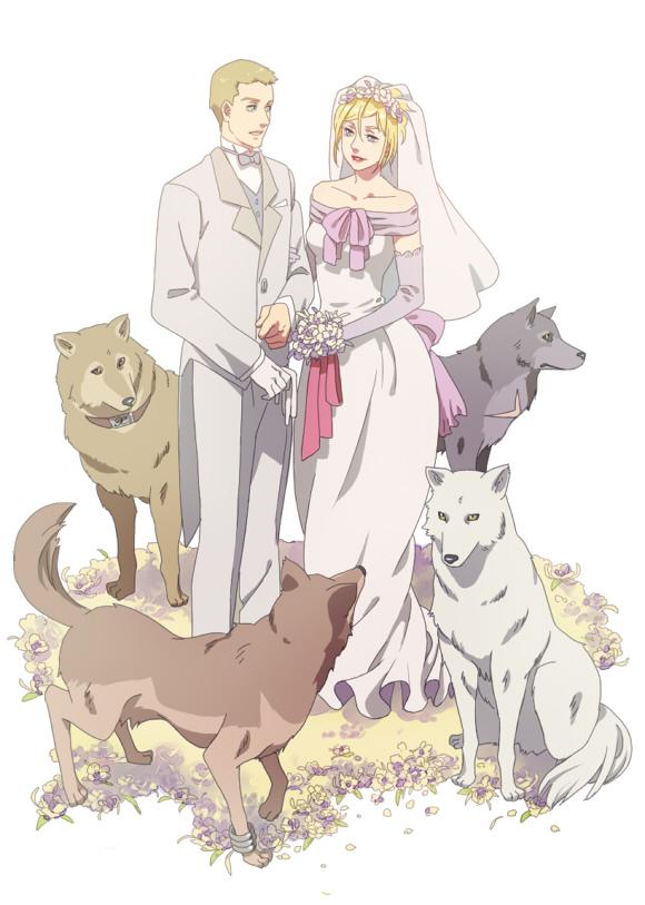 Tags: Anime, Esukee, Wolf's Rain, Hige, Cher Degré, Tsume, Hubb Lebowski, Kiba (Wolf's Rain), Toboe, Mobile Wallpaper, Fanart, Pixiv