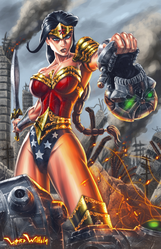 Tags: Anime, Lordwihelm, Wonder Woman, Destruction, Explosion, deviantART, DC Comics