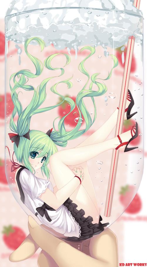 Tags: Anime, Caidychen, Project DIVA F 2nd, VOCALOID, Hatsune Miku, Pixiv, deviantART, Mobile Wallpaper, World is Mine, Project DIVA Supreme