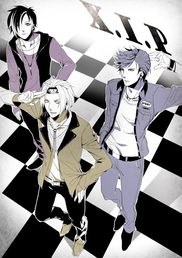 Tags: Anime, Kairi (Artist), Tokimeki Restaurant, Kanzaki Toru, Date Kyoya, Fuwa Kento, Text: Character Group Name, Fanart From Pixiv, Pixiv, Fanart, X.I.P.
