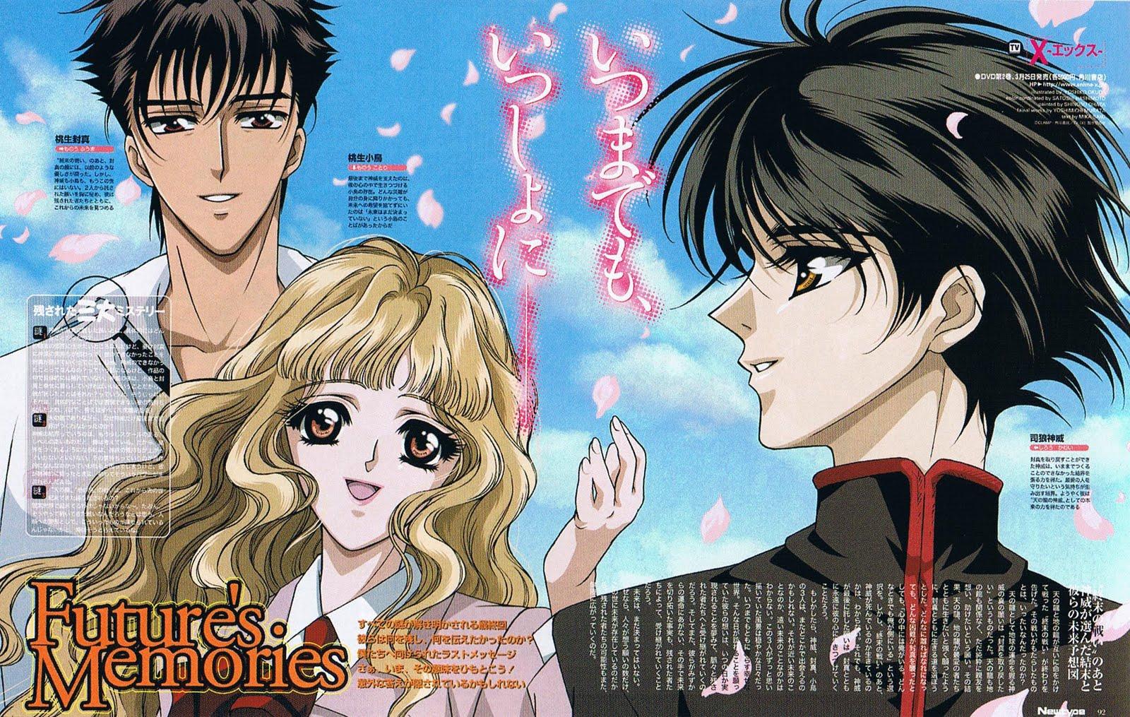 Tags: Anime, Okuda Yoshiko, X, Shirou Kamui, Monou Fuuma, Monou Kotori X Clamp Kamui
