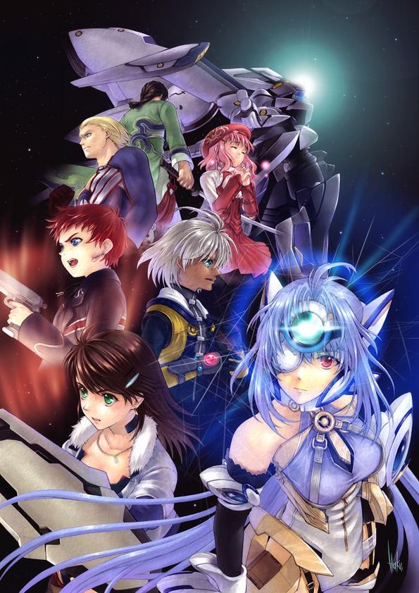 Tags: Anime, Xenosaga, Shion Uzuki, KOS-MOS, Gaignun Kukai Jr., Jin Uzuki, Ziggy