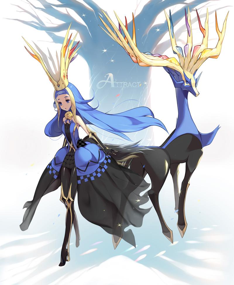 Xerneas Pok 233 Mon Zerochan Anime Image Board