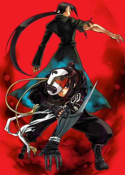 Tags: Anime, Hoshino Hitsuki, Fullmetal Alchemist Brotherhood, Fullmetal Alchemist, Greed/Greeling, Ling Yao, Lan Fan, Fanart, Pixiv, Mobile Wallpaper, Xing Country, Homunculi