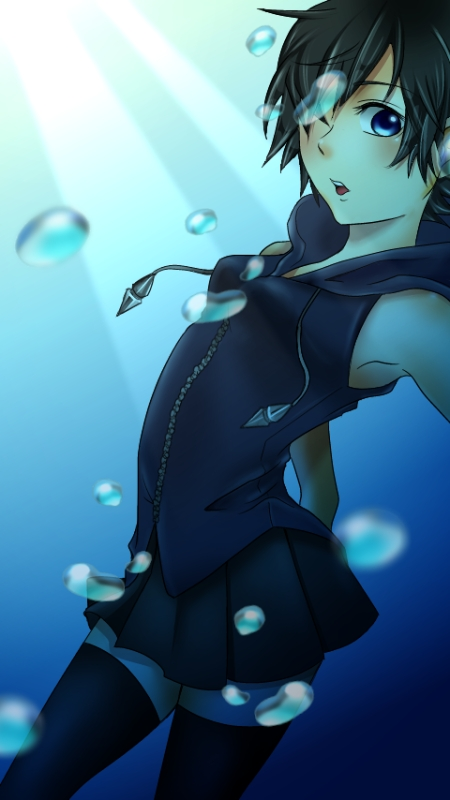 Tags: Anime, Kingdom Hearts, Kingdom Hearts 358/2 Days, Xion, Artist Request, Mobile Wallpaper, Organization XIII
