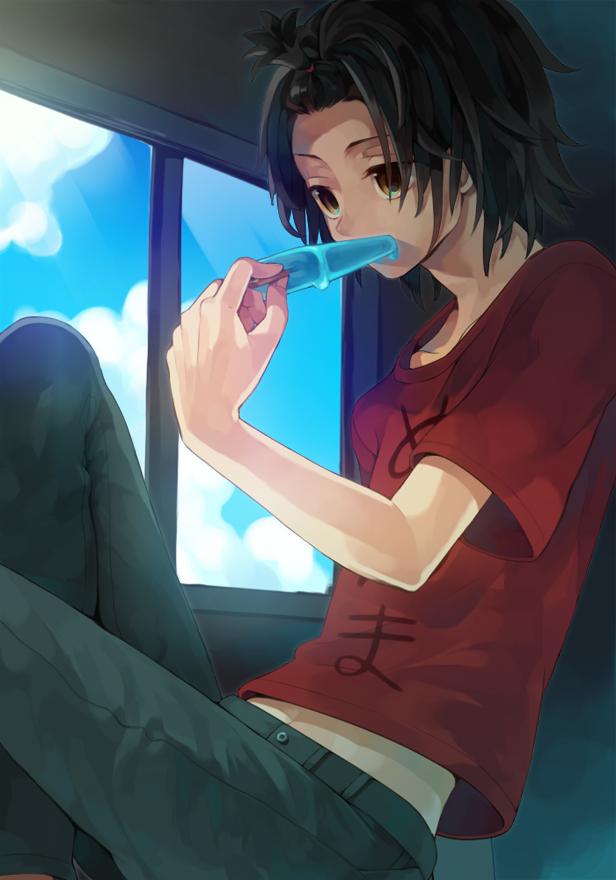 Tags: Anime, Hiyo Kiki, Ano Hi Mita Hana no Namae o Bokutachi wa Mada Shiranai., Yadomi Jinta, Mobile Wallpaper, Pixiv, Fanart, Fanart From Pixiv
