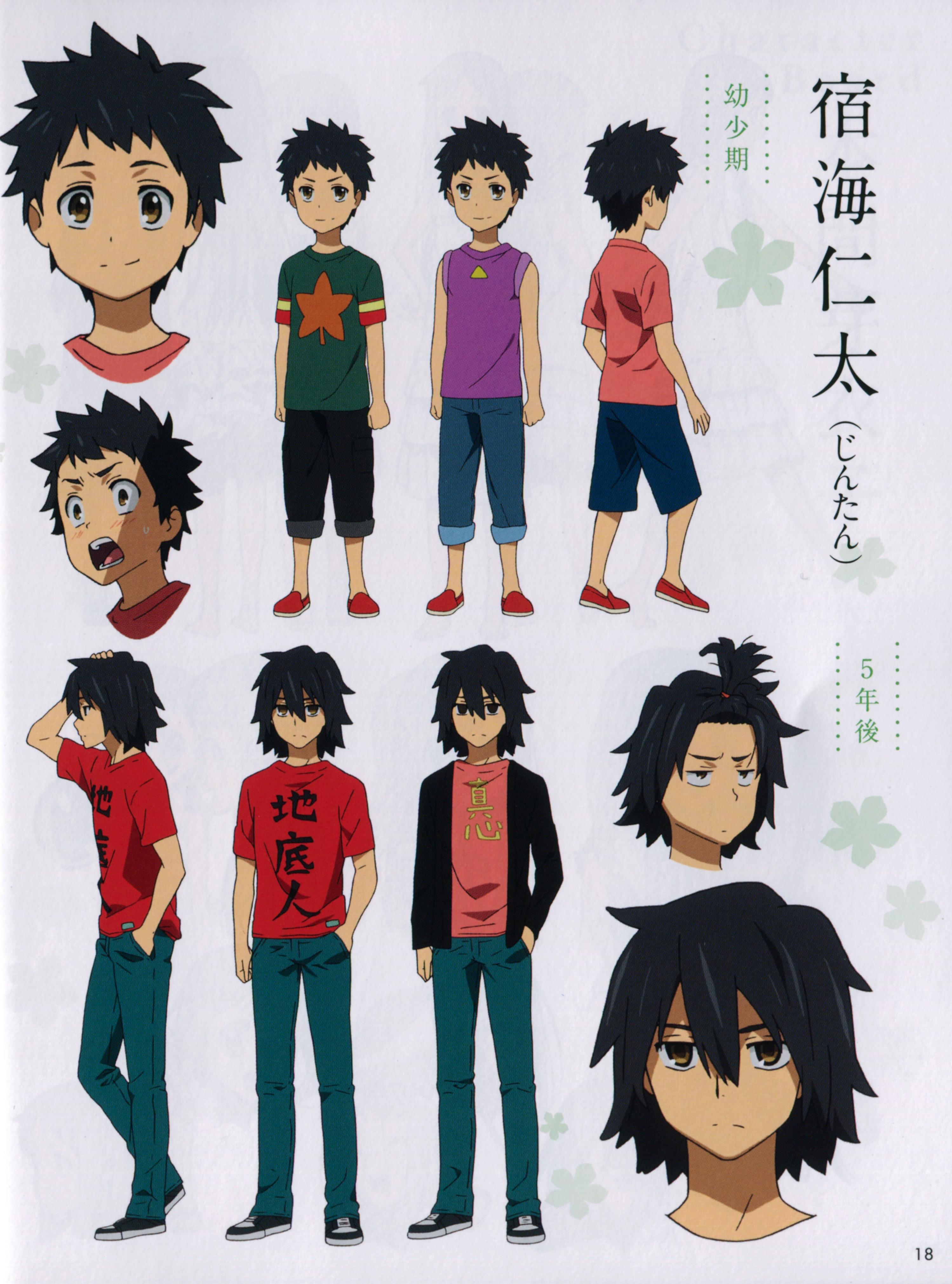 Character Design Zerochan : Yadomi jinta zerochan