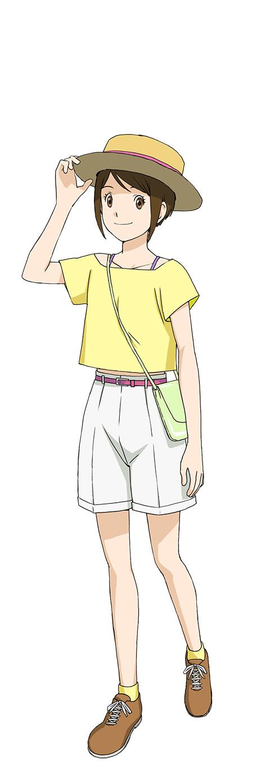 Tags: Anime, Nakatsuru Katsuyoshi, Toei Animation, Digimon Adventure, Digimon Adventure: Last Evolution Kizuna, Yagami Hikari, Laced Shoes, Messenger Bag, Official Art