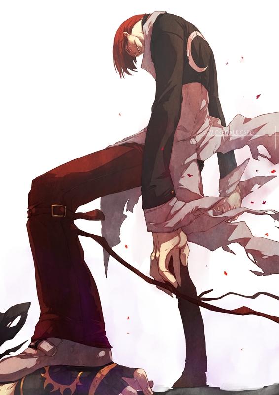 Tags: Anime, Ian Olympia, King of Fighters, Yagami Iori, Kusanagi Kyou, Fanart From DeviantART, Fanart, deviantART, Mobile Wallpaper