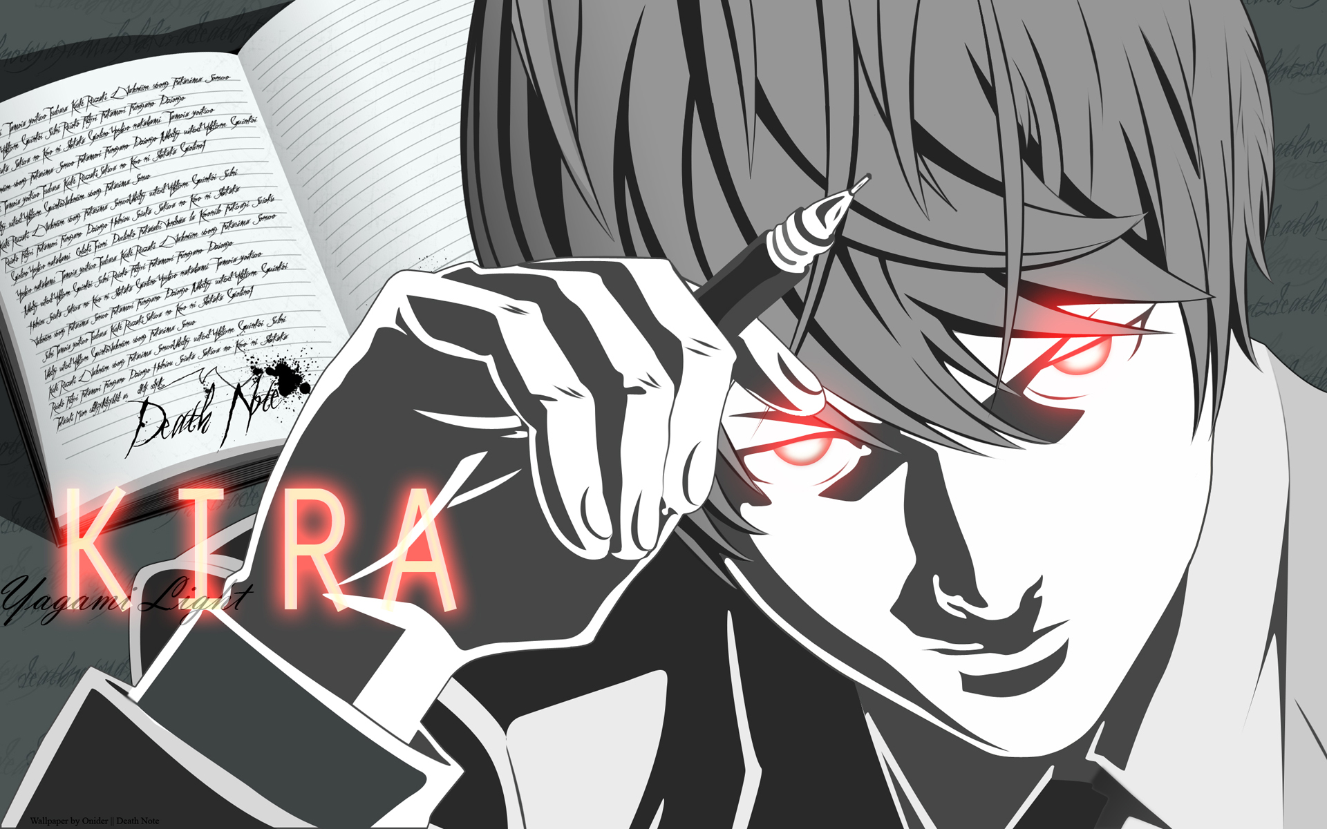 Yagami Raito Yagami Light Death Note Wallpaper