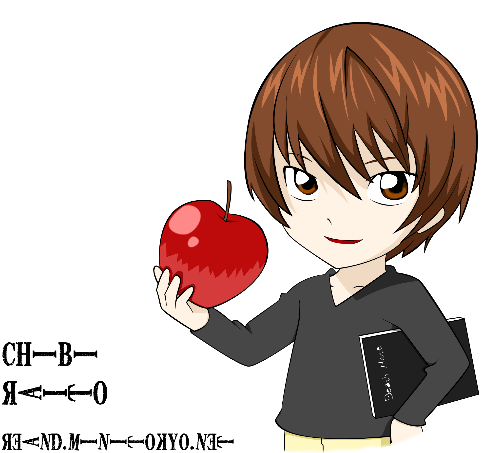 death note light and l chibi - photo #28