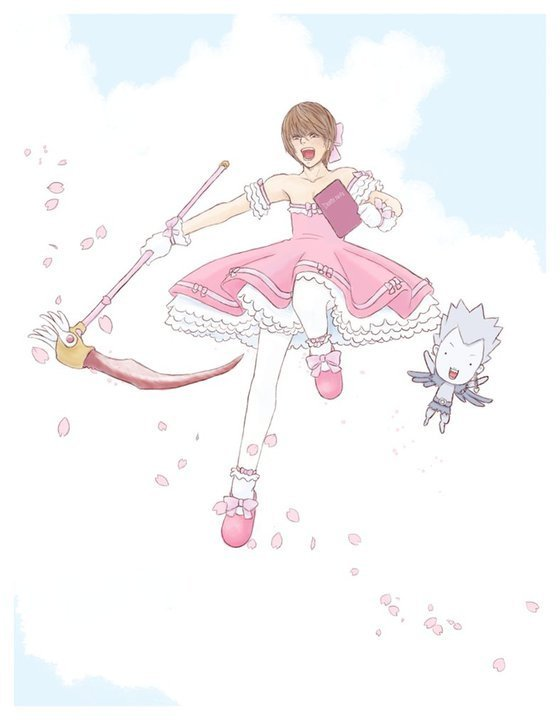 Tags: Anime, K-u, DEATH NOTE, Cardcaptor Sakura, Yagami Raito, Ryuk, Death Note (Object), Kinomoto Sakura (Cosplay), Shinigami, Cardcaptor Sakura (Parody), Kero-chan (Cosplay), Light Yagami
