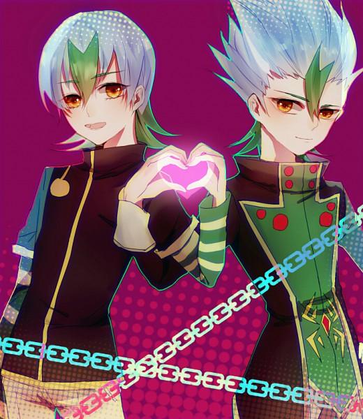 Tags: Anime, Pixiv Id 3196276, Yu-Gi-Oh!, Yu-Gi-Oh! ZEXAL, Yagumo Kyouji, Undershirt, Purple Background
