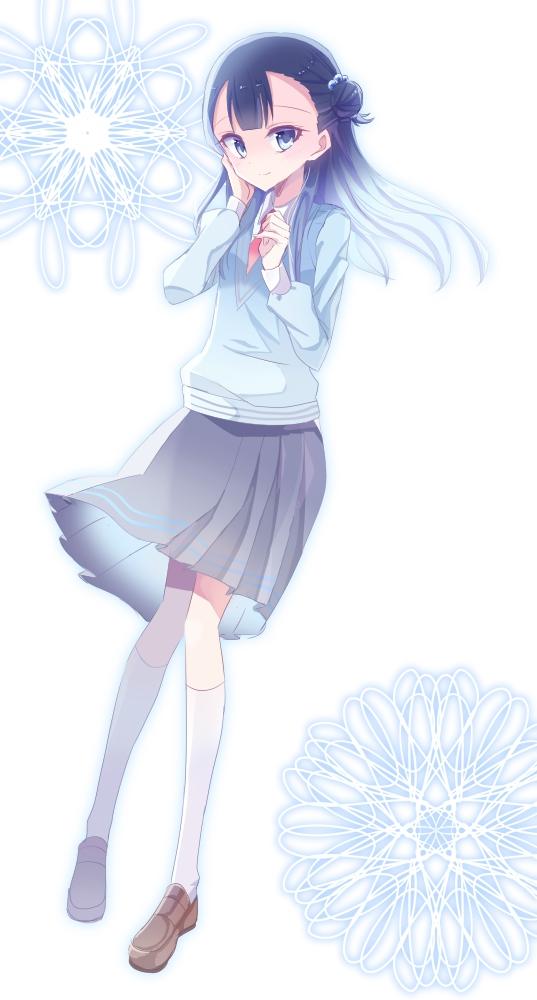 Tags: Anime, Pixiv Id 2772202, HUGtto! Precure, Yakushiji Saaya, Gray Skirt, Blue Vest, Pixiv, Fanart, Fanart From Pixiv
