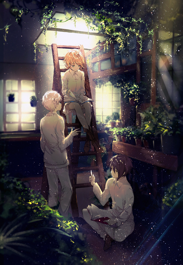Tags: Anime, Kinoko Hime, Yakusoku no Neverland, Ray (Yakusoku no Neverland), Norman (Yakusoku no Neverland), Emma (Yakusoku no Neverland), Fanart From Pixiv, Pixiv, Fanart, The Promised Neverland