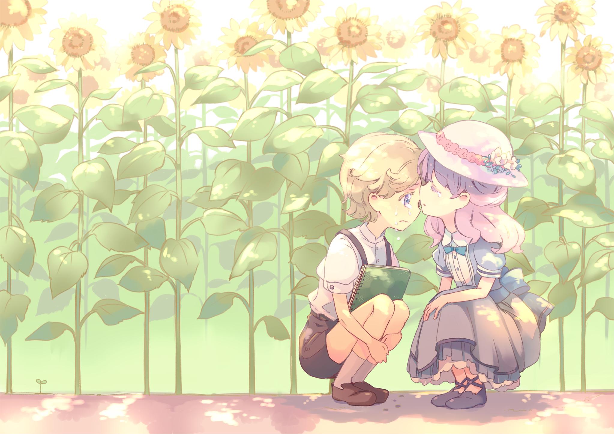Anime Kid Crouching