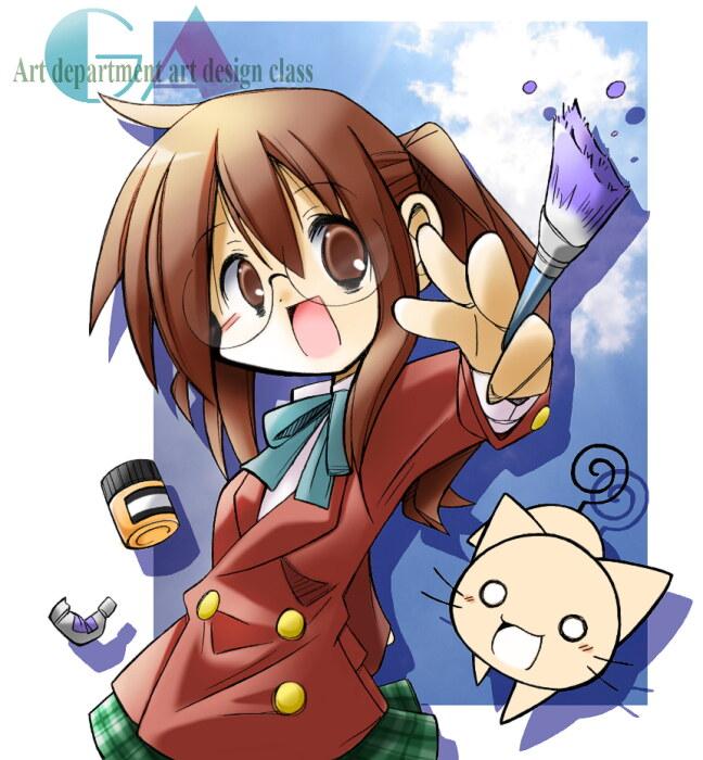 Tags: Anime, Rascal (Pixiv3097408), GA: Geijutsuka Art Design Class, Yamaguchi Kisaragi, Paint Tube, Pixiv