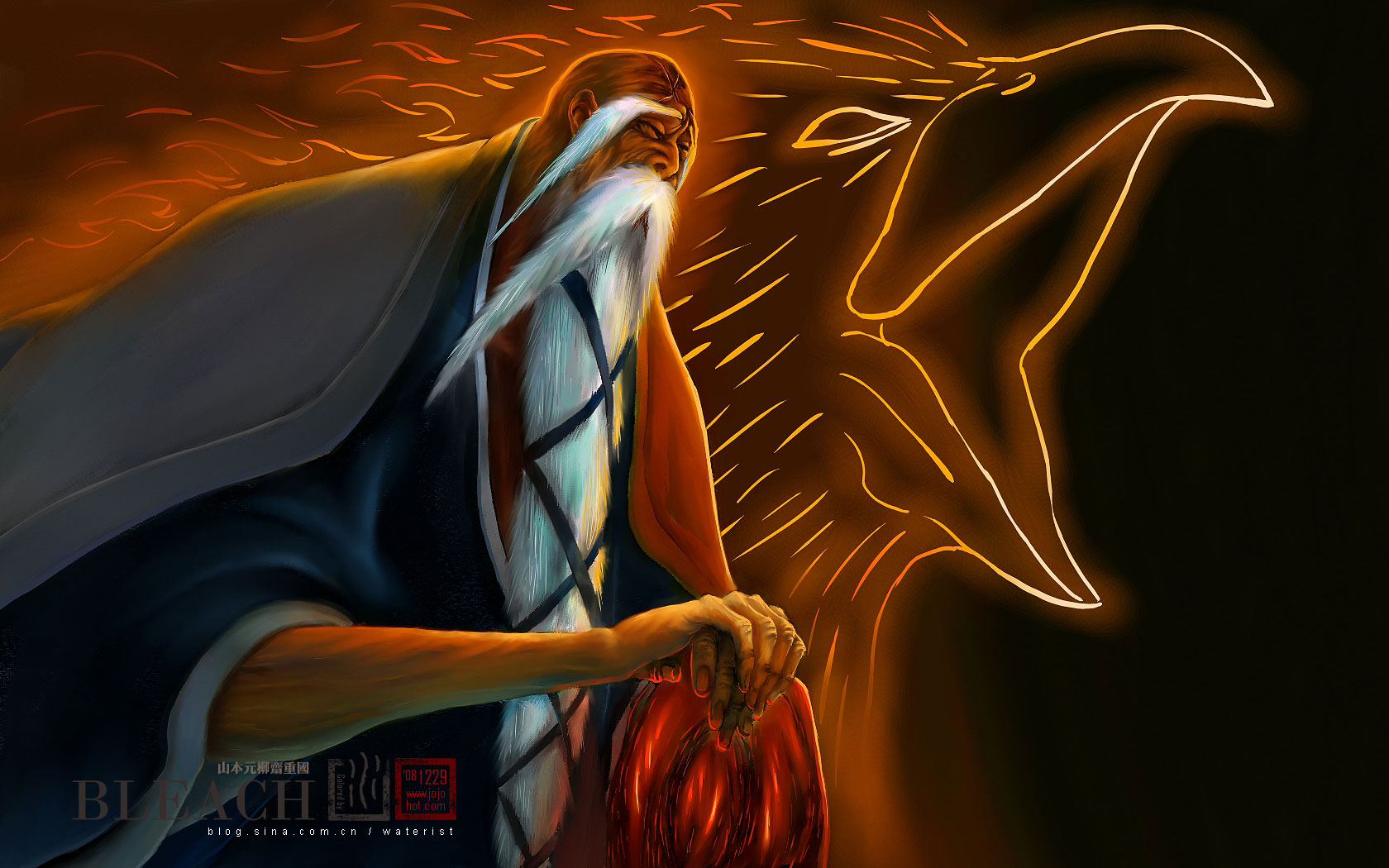 Captain Yamamoto Wallpaper Tags Anime Tite Kubo Bleach