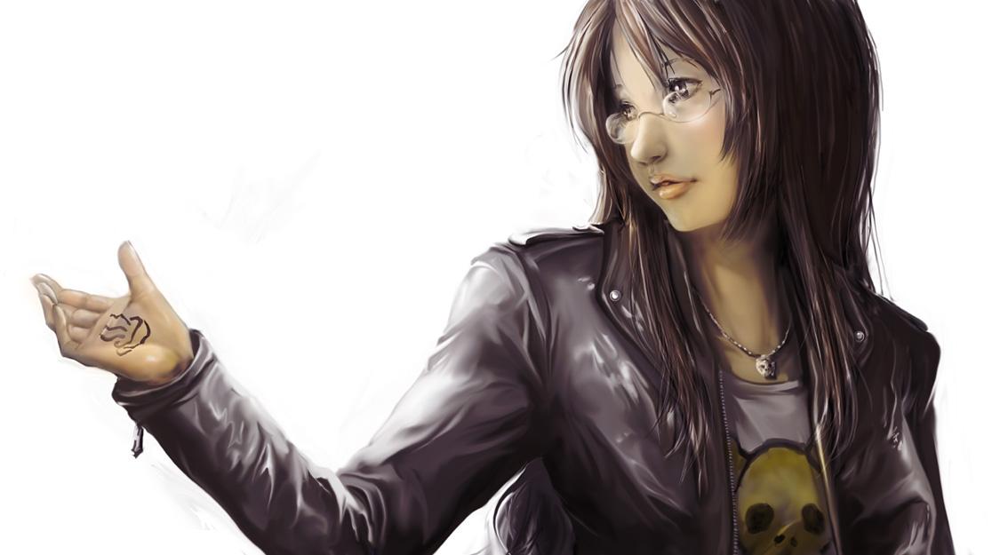 Anime Characters Leather Jacket : Yamanaka sawako  zerochan