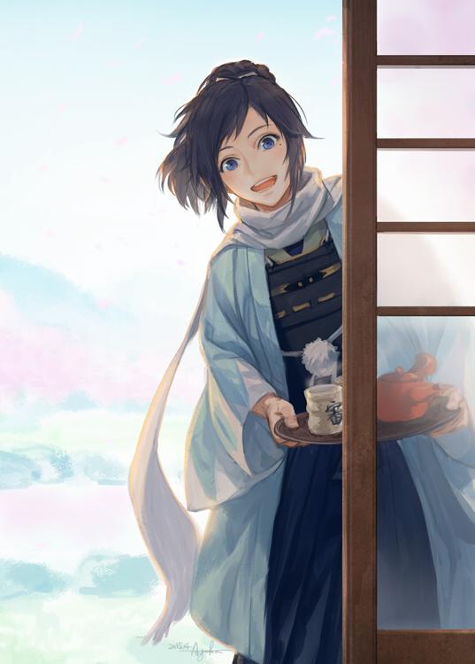 Tags: Anime, Suda Ayaka, Touken Ranbu, Yamato no Kami Yasusada, Fanart, Twitter, Mobile Wallpaper, PNG Conversion