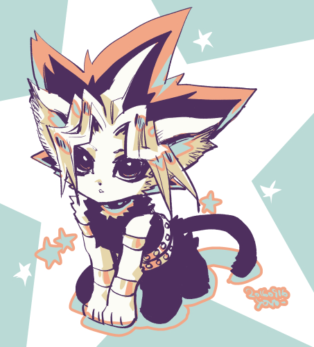Tags: Anime, Pixiv Id 2075835, Yu-Gi-Oh!, Yu-Gi-Oh! Duel Monsters, Yami Yugi, Black Pants, Star Background
