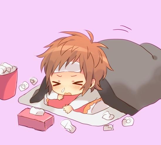 Anime Girl In Bed Sick