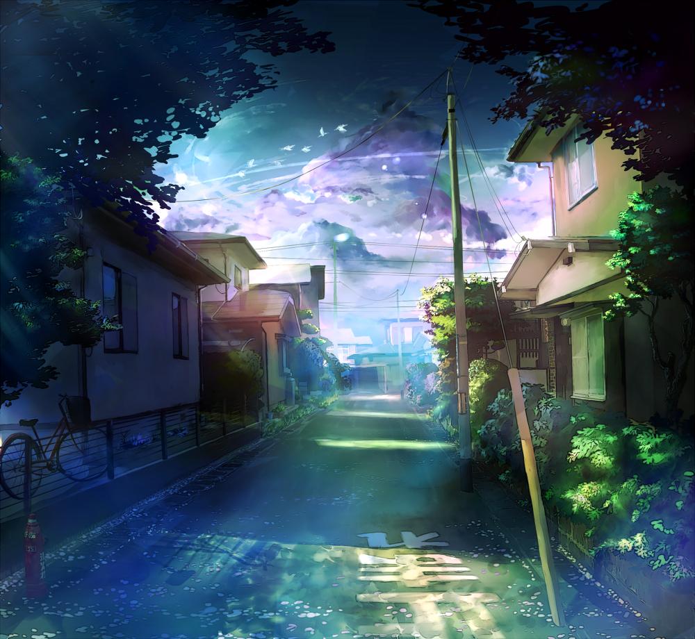 Картинки аниме красивый вид
