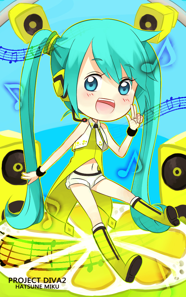 Tags: Anime, Garihi, Project DIVA 2nd, VOCALOID, Hatsune Miku, Pixiv, Yellow (Song), Project DIVA Yellow, Fanart