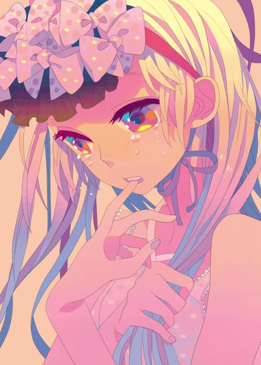 Tags: Anime, Yokarura, Finger In Mouth, Pixiv, Original, Mobile Wallpaper