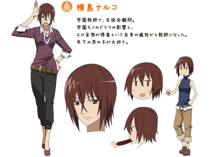 Tags: Anime, Furuta Makoto, GoHands, Seitokai Yakuindomo, Yokoshima Naruko, Official Art, Cover Image, Character Sheet