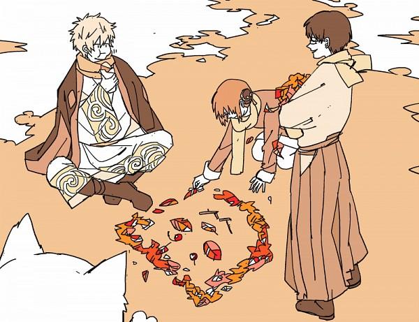 Tags: Anime, Pixiv Id 14791009, Gin Tama, Shimura Shinpachi, Sakata Gintoki, Sadaharu, Kagura (Gin Tama)