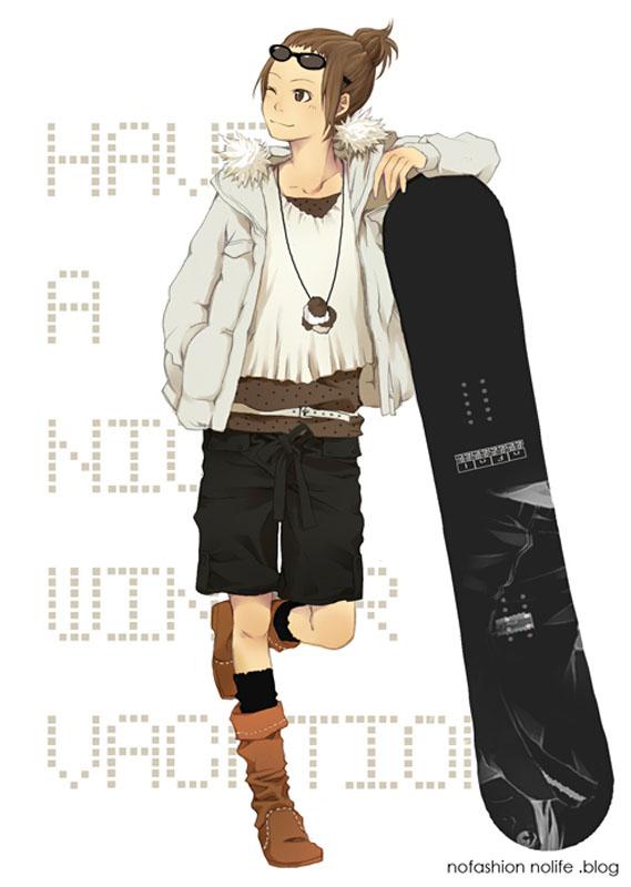 Tags: Anime, Yoshito, Skateboard, Pixiv, Mobile Wallpaper