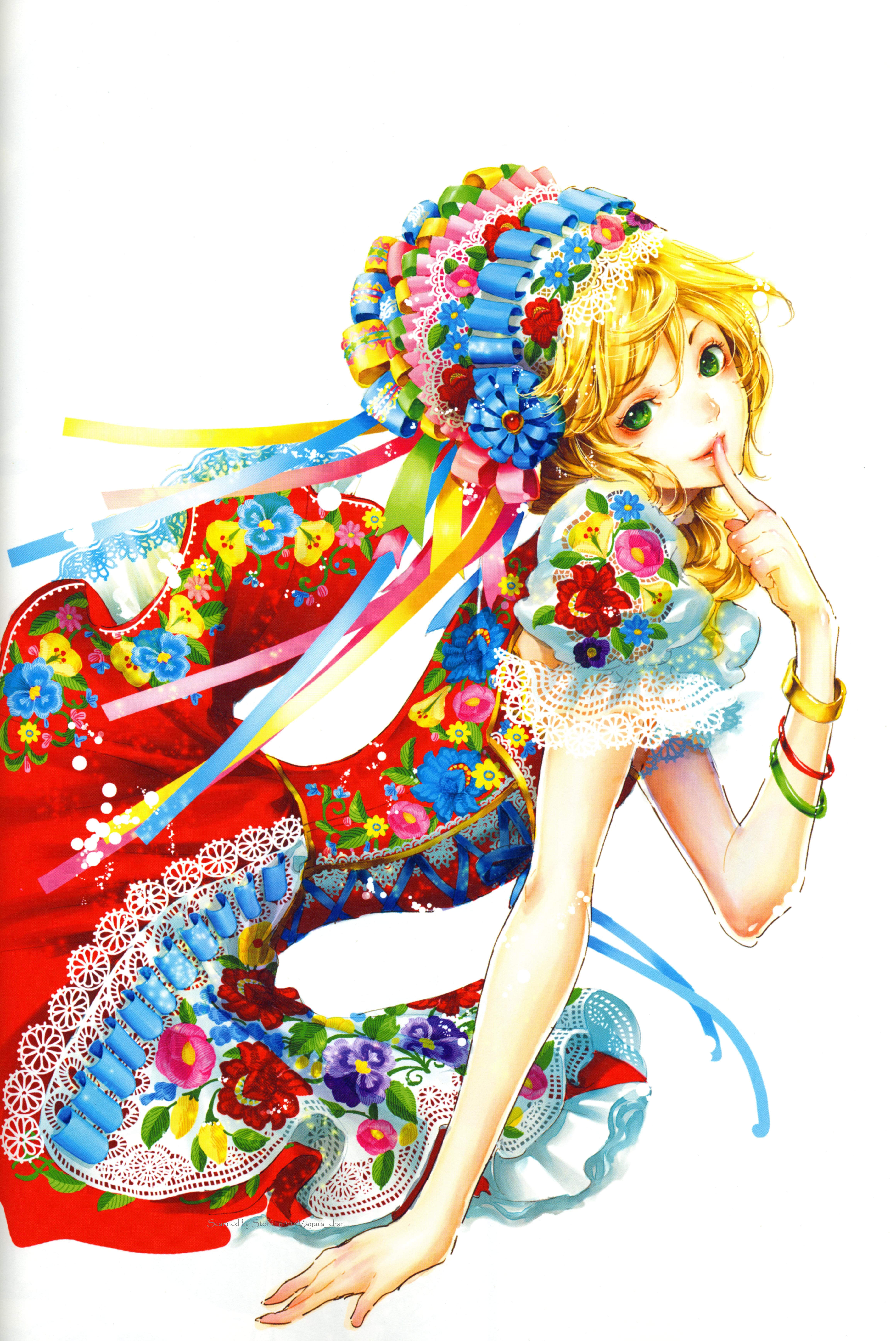 Tags: Anime, Tukiji Nao, Adekan, Yoshiwara Anri, Green Ribbon, Scan