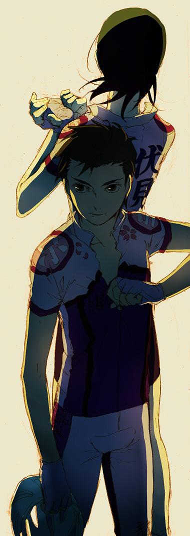Tags: Anime, Yuhka, Yowamushi Pedal, Midousuji Akira, Ishigaki Koutarou, Fanart, Fanart From Pixiv, Pixiv, Weak Pedals