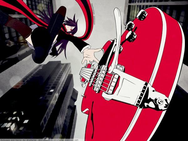 Tags: Anime, Suzuhito Yasuda, Yozakura Quartet, Yarizakura Hime, Guitar, City, Jumping