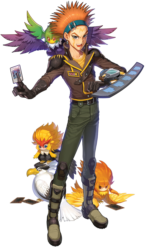 Tags: Anime, YNA, Yu-Gi-Oh! 5D's, Yu-Gi-Oh!, Black-Winged Dragon, Blackwing - Breeze the Zephyr, Crow Hogan, Blackwing - Kalut the Moon Shadow, Blackwing - Blizzard the Far North, Blackwing - Gale the Whirlwind, Bird on Shoulder, Fanart, Pixiv