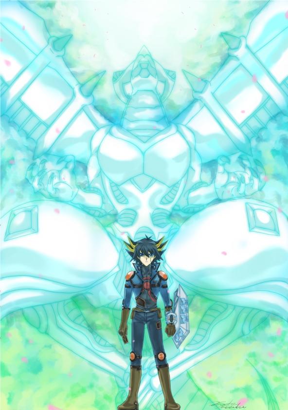Tags: Anime, Pixiv Id 277621, Yu-Gi-Oh!, Yu-Gi-Oh! 5D's, Shooting Star Dragon, Yusei Fudo, Fanart From Pixiv, Fanart, Pixiv