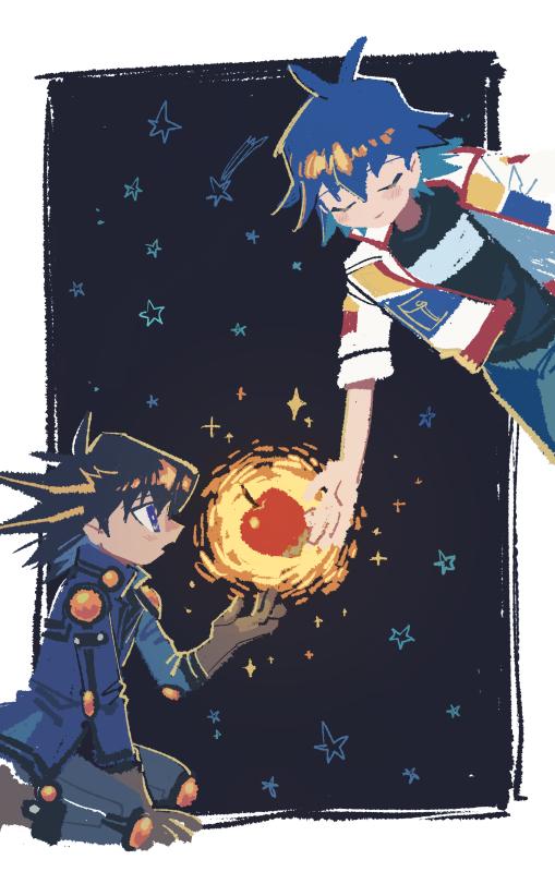Tags: Anime, Pixiv Id 6620471, Yu-Gi-Oh! 5D's, Yu-Gi-Oh!, Bruno, Yusei Fudo, Fanart From Pixiv, Fanart, Pixiv