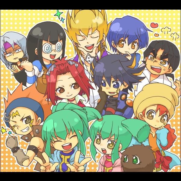 Tags: Anime, Yu-Gi-Oh! 5D's, Yu-Gi-Oh!, Kiryu Kyousuke, Yusei Fudo, Crow Hogan, Mikage Sagiri, Luca (Yu-Gi-Oh! 5D's), Kuribon, Izayoi Aki, Lua (Yu-Gi-Oh! 5D's), Tetsu Ushio, Carly Nagisa