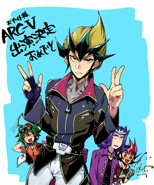 Tags: Anime, Pixiv Id 2128303, Yu-Gi-Oh! ZEXAL, Yu-Gi-Oh! ARC-V, Yu-Gi-Oh!, Sakaki Yuya, Tenjou Kaito