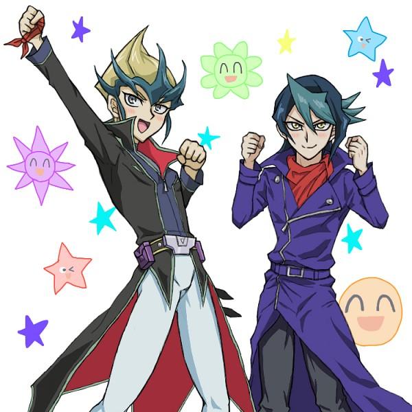 Tags: Anime, Pixiv Id 1370831, Yu-Gi-Oh! ARC-V, Yu-Gi-Oh!, Yu-Gi-Oh! ZEXAL, Tenjou Kaito, Kurosaki Shun
