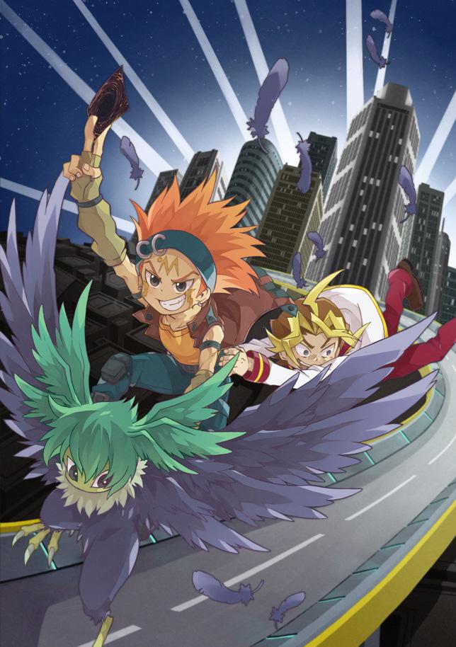 Tags: Anime, Pixiv Id 625061, Yu-Gi-Oh! ARC-V, Yu-Gi-Oh! 5D's, Yu-Gi-Oh!, Blackwing - Gale the Whirlwind, Crow Hogan, Sawatari Shingo, Pixiv, Fanart From Pixiv, Fanart