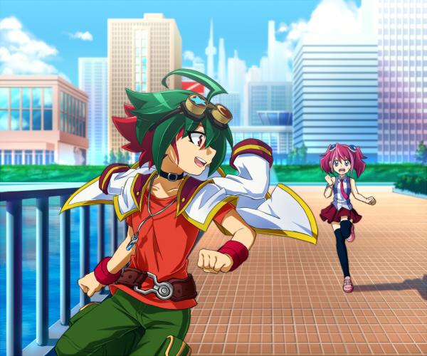 Tags: Anime, Pixiv Id 3098623, Yu-Gi-Oh!, Yu-Gi-Oh! ARC-V, Hiiragi Yuzu, Sakaki Yuya, Requested Upload, Pixiv, Fanart, YuyaYuzu