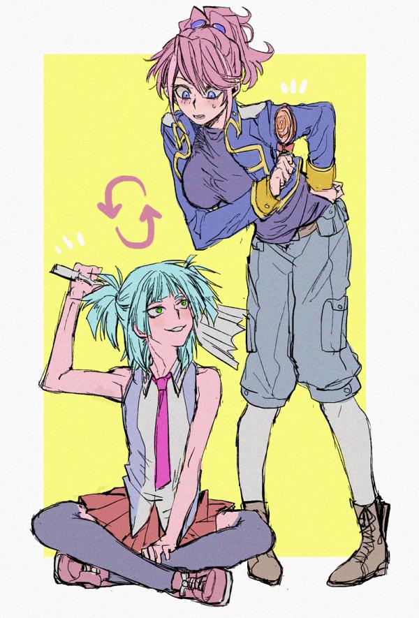 Tags: Anime, Pixiv Id 16379570, Yu-Gi-Oh!, Yu-Gi-Oh! ARC-V, Shiunin Sora, Hiiragi Yuzu, Harisen, Hiiragi Yuzu (Cosplay), Shiunin Sora (Cosplay), Pixiv, Fanart, PNG Conversion