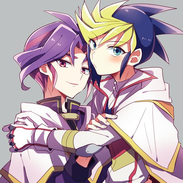Tags: Anime, Mikami (Pixiv 2092690), Yu-Gi-Oh!, Yu-Gi-Oh! ARC-V, Yuuri (Yu-Gi-Oh! ARC-V), Yuugo (Yu-Gi-Oh! ARC-V), Fanart From Pixiv, Pixiv, Fanart, YugoYuri