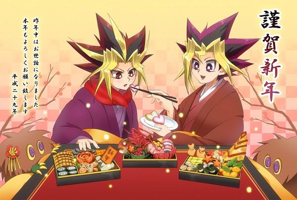 Tags: Anime, Pixiv Id 11735518, Yu-Gi-Oh! Duel Monsters, Yu-Gi-Oh!, Kuriboh, Mutou Yuugi, Yami Yugi