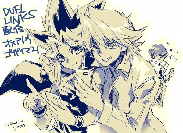 Tags: Anime, Pixiv Id 2075835, Yu-Gi-Oh! Duel Monsters, Yu-Gi-Oh!, Kaiba Seto, Yami Yugi, Jounouchi Katsuya