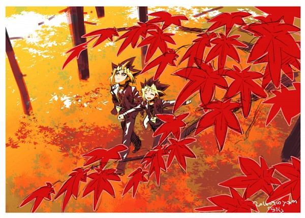 Tags: Anime, Pixiv Id 2075835, Yu-Gi-Oh!, Yu-Gi-Oh! Duel Monsters, Yami Yugi, Mutou Yuugi, Maple Leaf