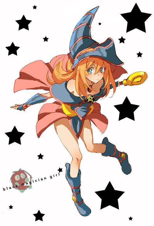 Tags: Anime, Pixiv Id 1786311, Yu-Gi-Oh! Duel Monsters, Yu-Gi-Oh!, Kuriboh, Dark Magician Girl, Blue Armwear, Magic User Outfit, Yellow Sclera, Pixiv, Mobile Wallpaper, Fanart From Pixiv, Fanart
